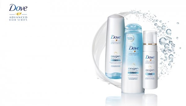 Dove Oxygen Moisture Shampoo and Conditioner for Fine Hair