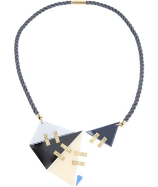 Lucy Peacock Perspex Necklace - 1980s-inspired Must-Have Piece of Perspex Jewelry