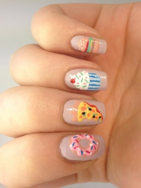 27 Food Nail Art Designs That Will Make You…