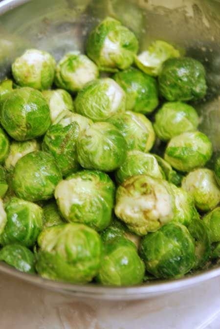 Clean Eating Seasoned Brussels Sprouts