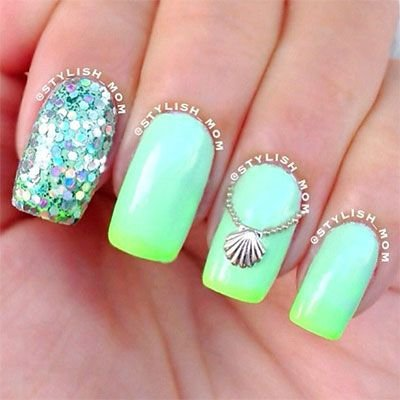 Neon beach nail art 45 awesome reasons to try neon nail art neon beach nail art prinsesfo Choice Image