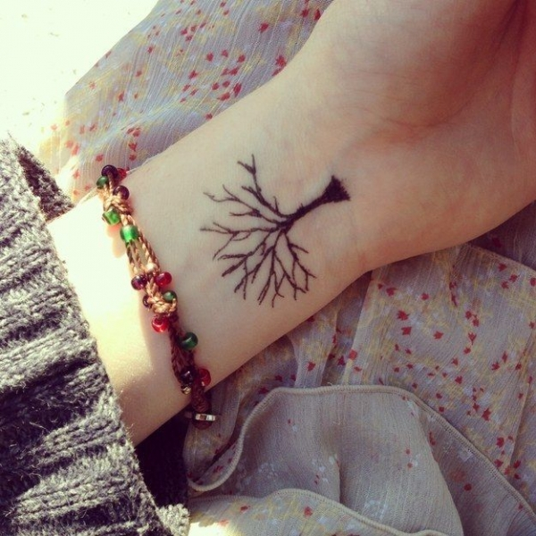 A simple tree 32 inspiring wrist tattoos lifestyle for Inspirational wrist tattoos