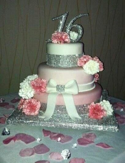 BLING And BOWS  Stunning Sassy Sweet  Birthday Cakes - Sweet 16 birthday cakes