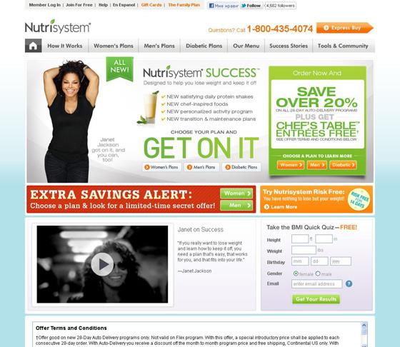 4. NutriSystem - Top 7 Online Diet Plans ... = Diet