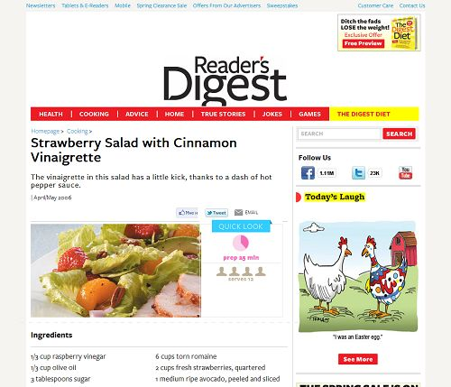 Strawberry Salad with Cinnamon Vinaigrette at http://www.rd.com/food/spring-salad-recipe-healthy-strawberry-salad-/
