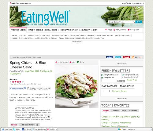 Spring Chicken & Blue Cheese Salad at http://www.eatingwell.com/recipes/spring_chicken_blue_cheese_salad.html