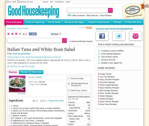 Italian Tuna And White Bean Salad at http://www.goodhousekeeping.com/recipefinder/italian-tuna-white-bean-salad