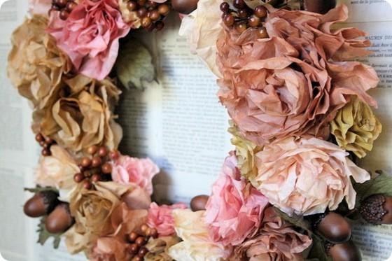 10. Coffee Filter Roses11 Fantastic DIY Fall Wreaths …