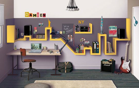 10 awesome nyc inspired diy projects diy for Cityscape bedroom ideas