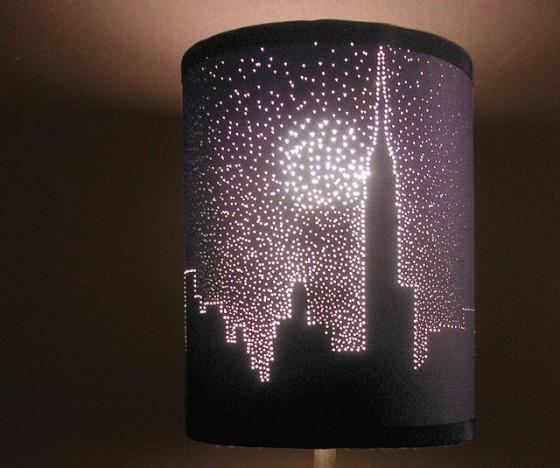 Новогодние поделки из коробДекор настольных ламп своими