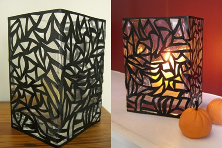 web like decoupage - How To Make Halloween Lanterns