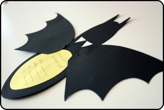 invites - Halloween Bats Crafts