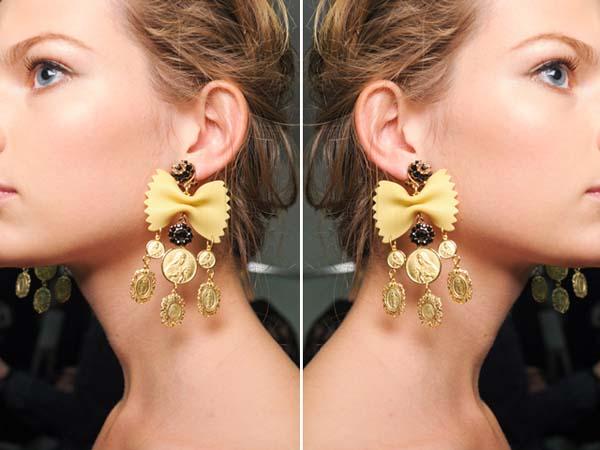 Dolce Amp Gabbana Pasta Earrings Top 10 Diy Earrings