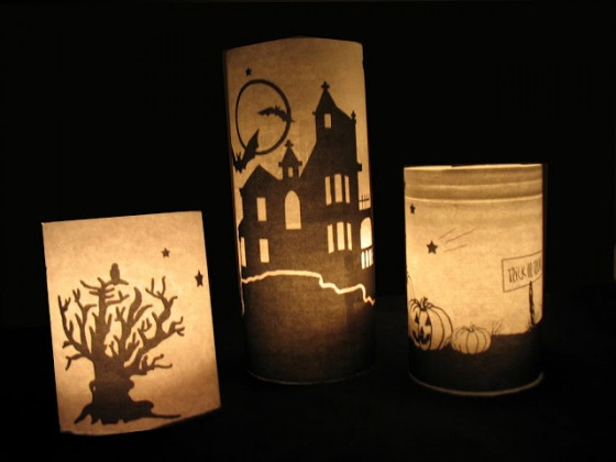 pottery barn inspired these are very easy - How To Make Halloween Lanterns
