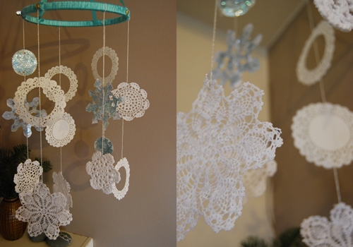 Chandelier 12 sweet diy snowflake craft projects diy for Chandelier craft ideas
