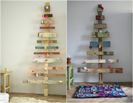 these belong to a crafty lady who makes and sells wooden christmas trees - Wooden Christmas Tree