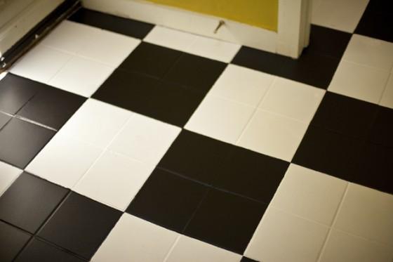 Painted Floor Ideas checkerboard tiles - 8 fantastic diy painted floor ideas  …