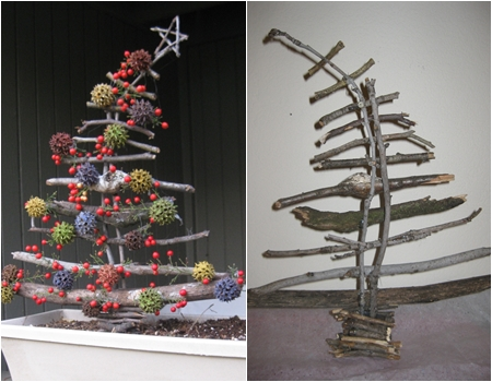 Sticks - 10 Adorable DIY Wooden Christmas Tree Ideas ... …
