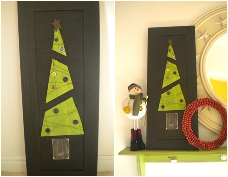 Split wood 10 adorable diy wooden christmas tree ideas for Imagenes puertas decoradas navidad