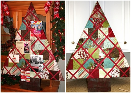 patchwork tree - Christmas Card Tree Holder