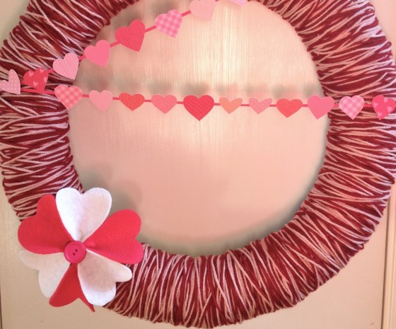 Mini Heart Banner and Yarn