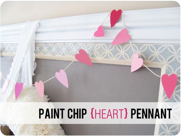 Paint Chip Heart Garland