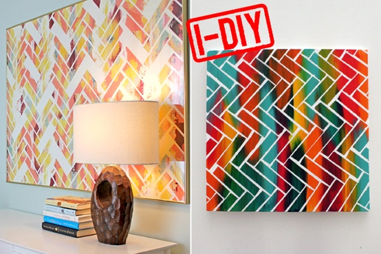 painters tape art 7 diy wall art tutorials diy. Black Bedroom Furniture Sets. Home Design Ideas