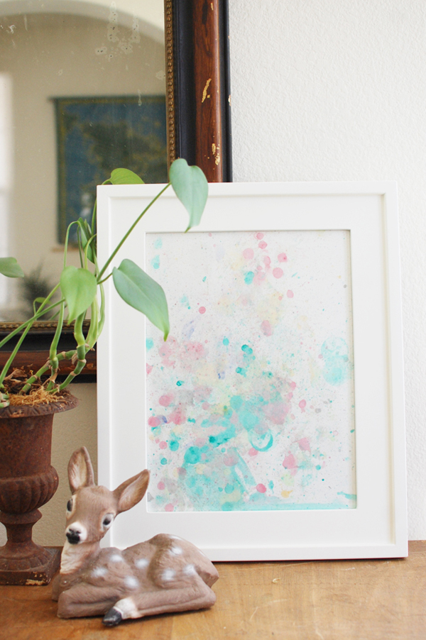 Watercolor Wall Art watercolor bubble art - 7 diy wall art tutorials  diy