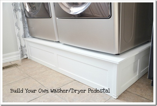 Washer And Dryer Platform 9 Fantastic Laundry Room Diy