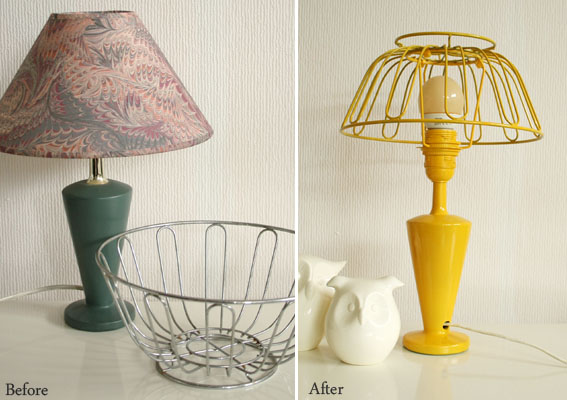 lamp shade 7 clever ways to upcycle baskets diy. Black Bedroom Furniture Sets. Home Design Ideas