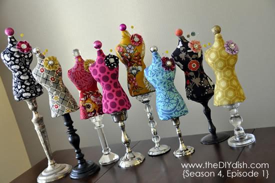 Mini Dress Form - 13 Cute DIY Pin Cushions to Make ... DIY