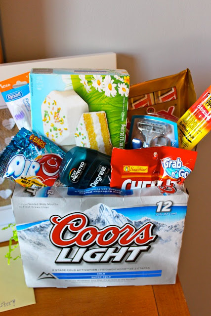 Manliness 16 insanely easy easter basket ideas for men grab a case of your guys favorite beer cut open the top and remove half of the beer put them in the fridge for him so theyre nice and cold negle Choice Image