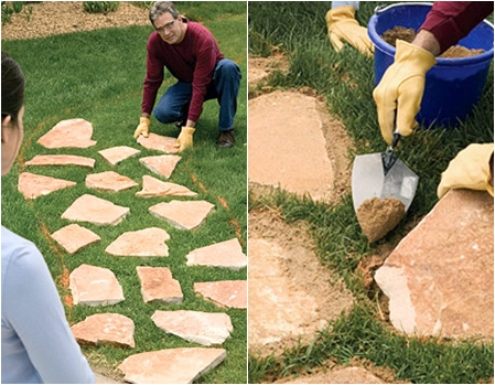 Stepping stone path 8 wonderful diy walkways and garden paths stepping stone path workwithnaturefo
