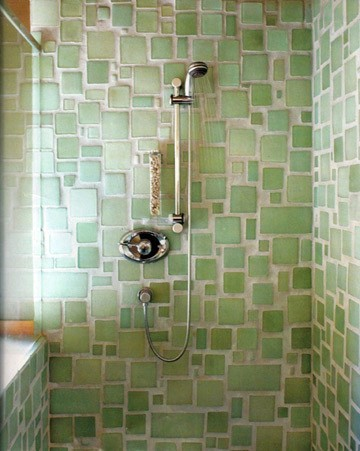 Mismatched tile 7 ways to spruce up your bathroom for Sea glass bathroom ideas