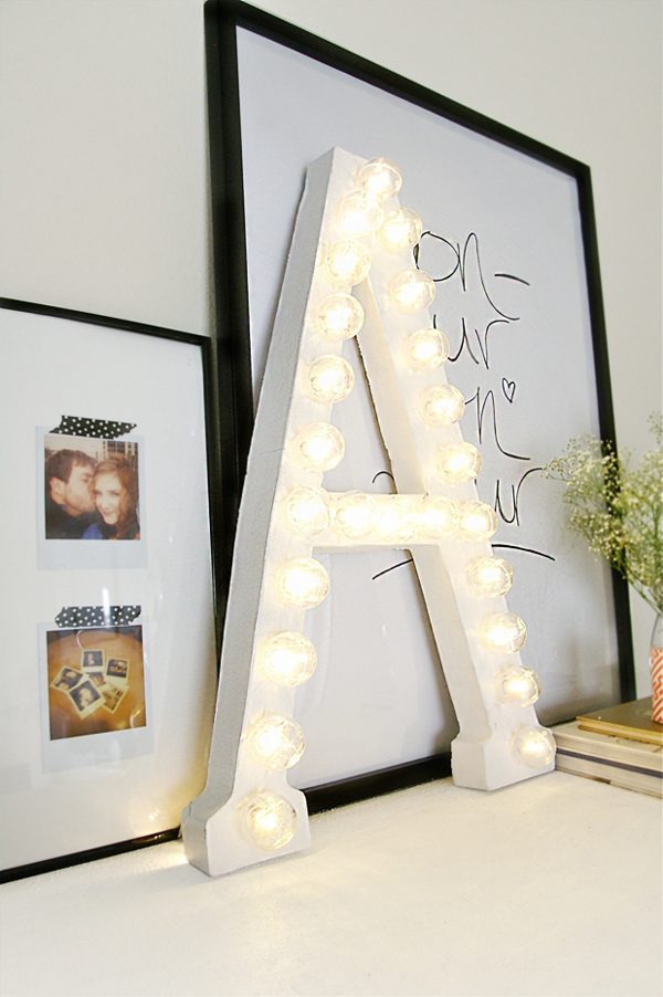 11 Ways to Craft with Cardboard Letters ... DIY