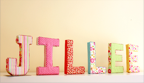 Foam and fabric 11 ways to craft with cardboard letters for How to cover cardboard letters with fabric