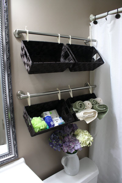 Towel Bar 7 Easy Yet Wonderful Diy Bathroom Organizers