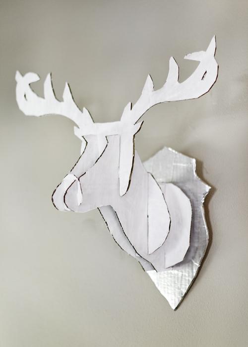 Cardoard deer 9 diy faux taxidermy craft projects that for Free cardboard taxidermy templates
