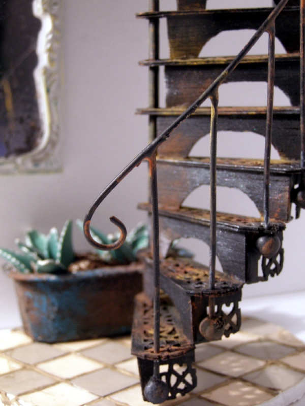 old wrought iron spiral staircase, via All Women Stalk