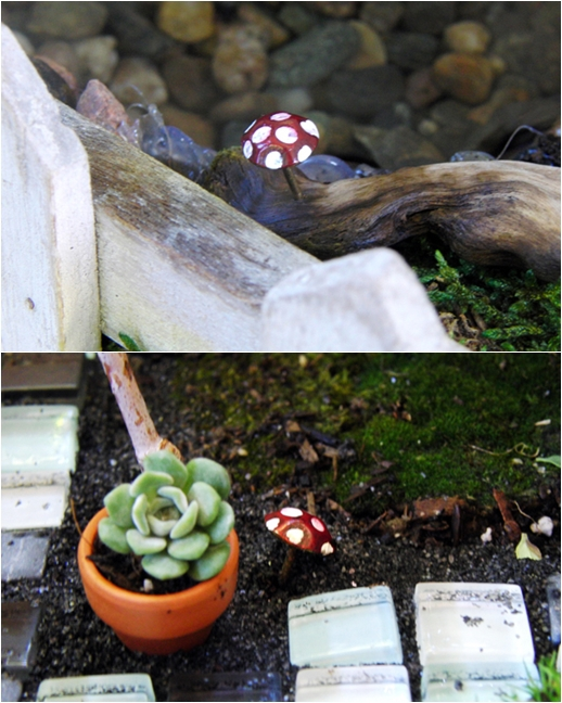Upholstery Tack Mushrooms - 9 Miniature Faerie Crafts That ...