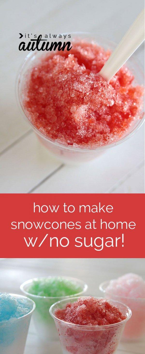 Sugar-free Snow Cones