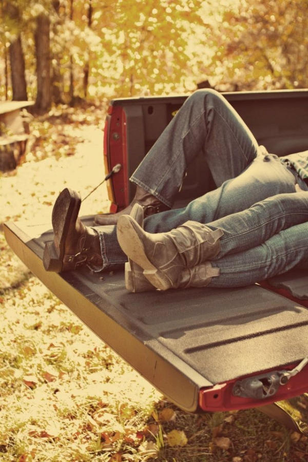 ... Loving His Truck