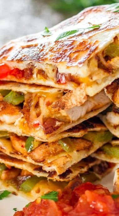 Chicken Fajita Quesadillas - 23 Guilt-free Tex-mex Recipes ...