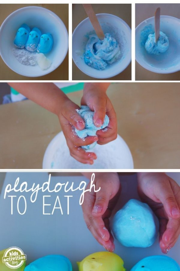 Play Dough Made from Peeps