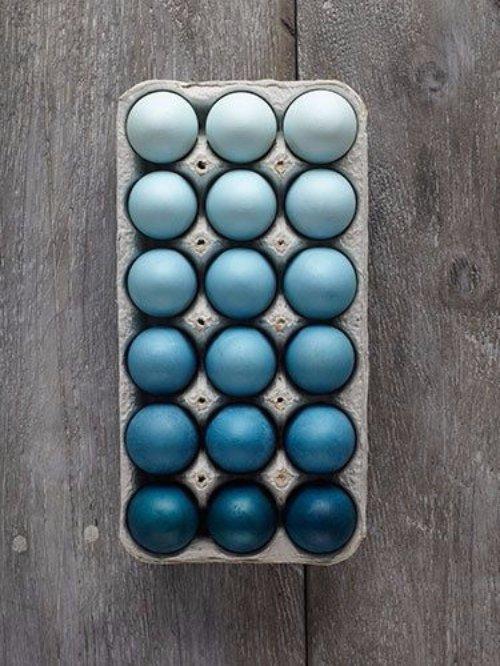 Ombré Eggs