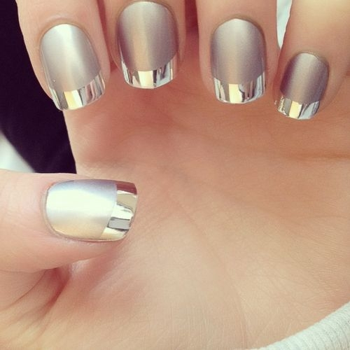 Mirror and Metallic Nail Art