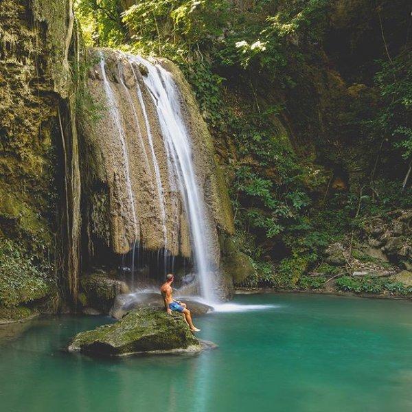Erawan National Park, waterfall, nature, landform, water,