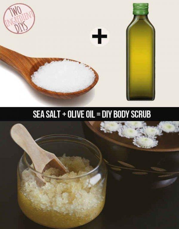 Sea Salt and Olive Oil Scrub