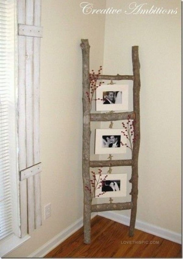 DIY Tree Branch Picture Frames - 35 Amazing DIY Home Decor…