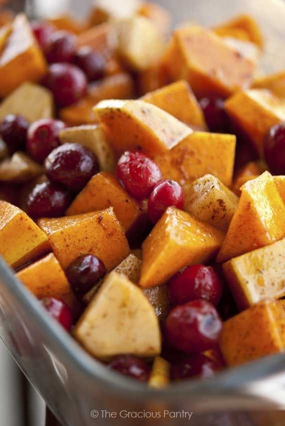 Holiday Butternut Cranberry Bake